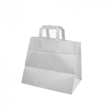 taška papírová-bílá 32x21x27 cm