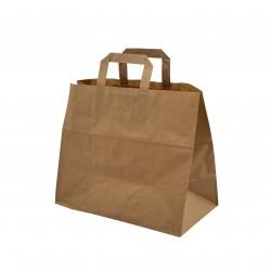 Papírová taška hnědá, 26x17x25 cm