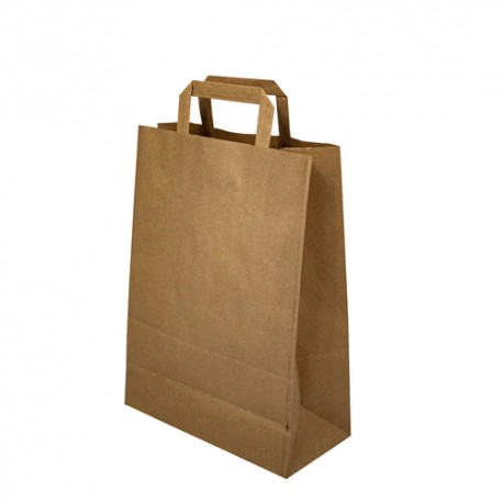 Papírová taška hnědá 22x10x28 cm
