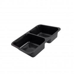 Gastro miska PP - dvoudílná - černá (400ks)
